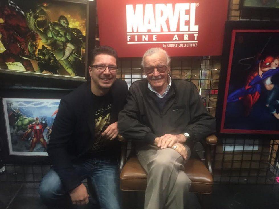 Cédric Biscay et Stan Lee