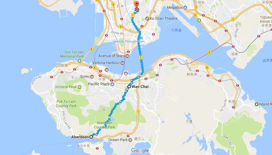 Plan de Hong Kong Aberdeen Wan Chai
