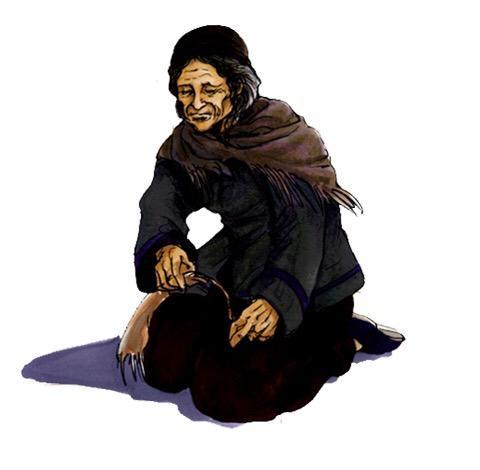 Vieille femme du village de Bailu