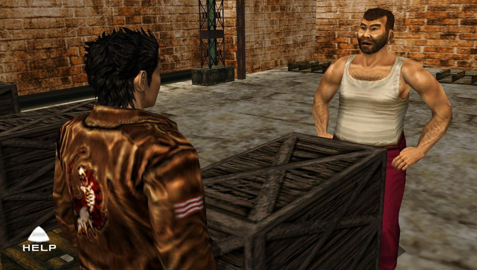 Shenmue II déplacer caisses
