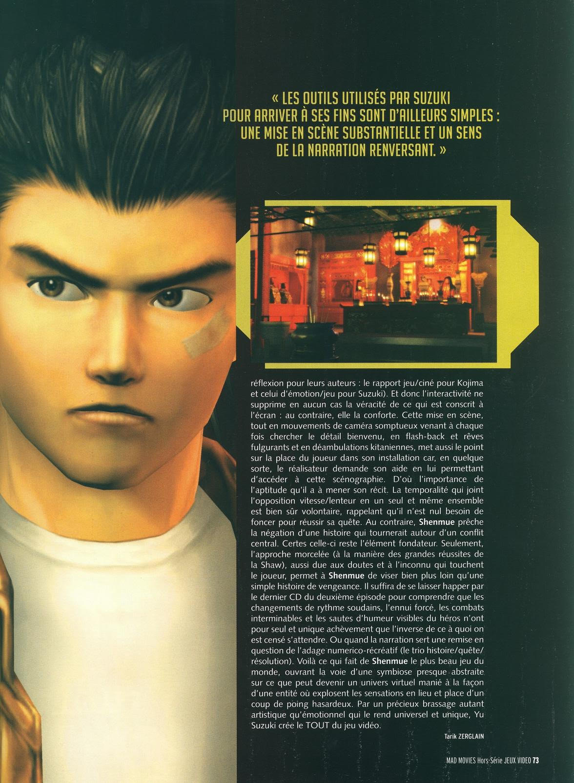 Mad Movies Shenmue
