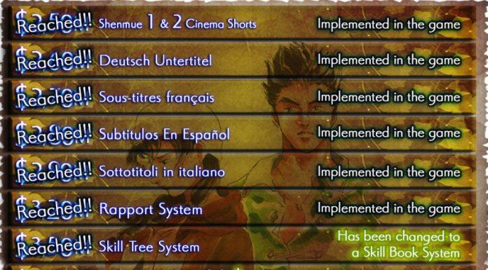 Stretch Goals Shenmue III