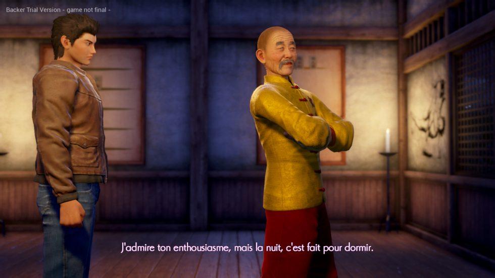 Fermeture dojo démo Shenmue III