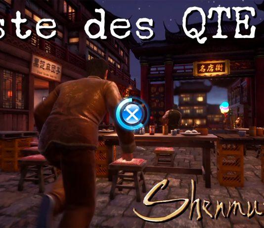 Liste des QTE de Shenmue III